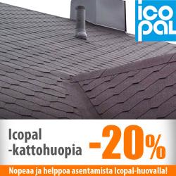 Icopal-kattohuopia -20%