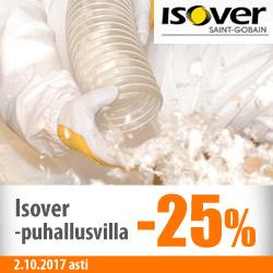 Isover-puhallusvilla -25%