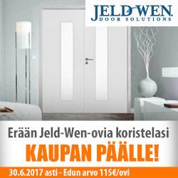 Erään Jeld-Wen -ovia koristelasi kaupan päälle!