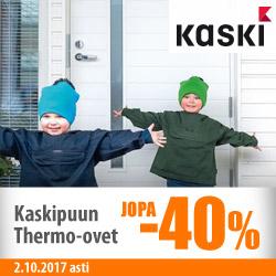 Kaskipuun Thermo-ovet jopa -40%