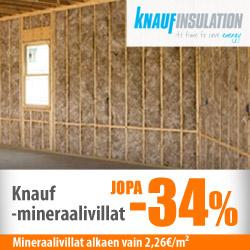 Knauf-mineraalivillat jopa -34%