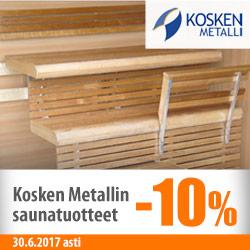 Kosken Metallin saunatuotteet -10%