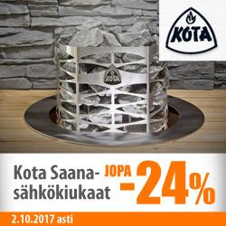 Kota Saana -sähkökiukaat jopa -24%