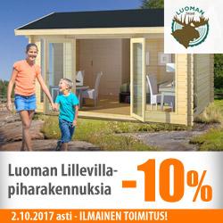 Luoman Lillevilla -piharakennuksia -10%