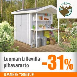 Luoman Lillevilla -pihavarasto -31%