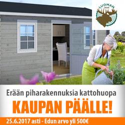 Erään Luoman Lillevilla-rakennuksia Icopal-kattohuopapaketti kaupan päälle!