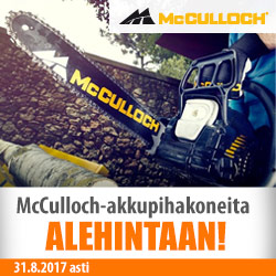 McCulloch-akkupihakoneita alehintaan!