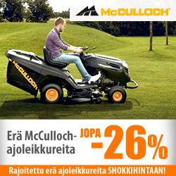 Erä McCulloch-ajoleikkureita jopa -26%
