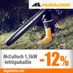 McCulloch-lehtipuhallin -12%