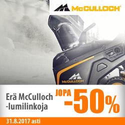 Erä McCulloch-lumilinkoja jopa -50%
