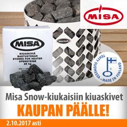 Misa Snow -kiukaisiin kiuaskivet kaupan päälle!