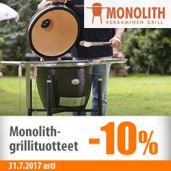 Monolith-grillituotteet -10%