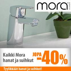 Moran hanat ja suihkut jopa -40%