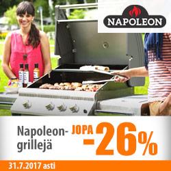 Napoleon-grillivalikoima jopa -26%