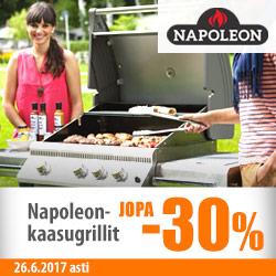 Napoleon-kaasugrillit jopa -30%