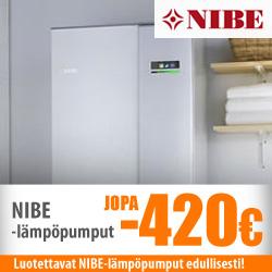 Nibe-lämpöåumput jopa -420€
