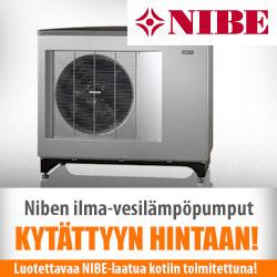 Niben ilma-vesilämpöpumput edullisesti Netraudasta!