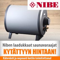 Niben saunavaraajat edullisesti Netraudasta!