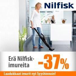 Erä Nilfisk-imureita jopa -37%