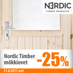 Nordic Timber -mökkiovet -25%