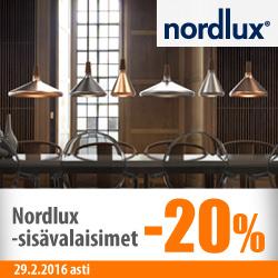 Nordluxin sisävalaisimet -20%