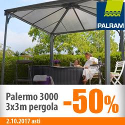 Palram Palermo -pergola -50%!