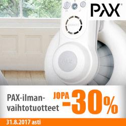 PAX-ilmanvaihtotuotteet jopa -30%