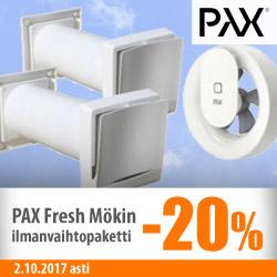 Pax Fresh mökin ilmanvaihtopaketti -20%