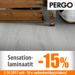 Vedenkestävä Pergo Sensation -laminaattimallisto -15%