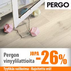 Pergo-vinyylilattioita jopa -26%