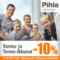 Yli 5 Pihla-ikkunan tilaajalle -10% ikkunatilauksesta