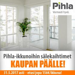 Pihla-ikkunoihin sälekaihtimet kaupan päälle!