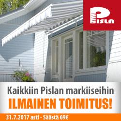 Pisla-markiisit ilmaisella kotiin toimituksella!