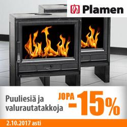 Plamen puuliesiä ja valurautatakkoja jopa -15%