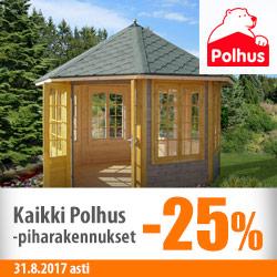 Kaikki Polhus-piharakennukset -25%