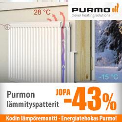 Purmo-lämmityspatterit jopa -43%