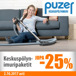 Puzer-keskuspölynimuripaketit jopa -25%