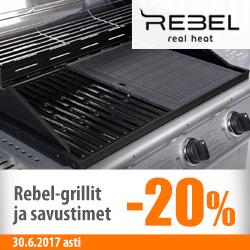 Rebel-grillit -20%