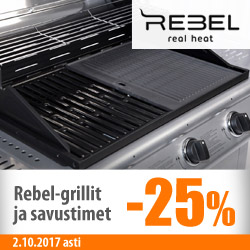 Rebel-grillit -25%