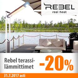 Rebel-terassilämmittimet -20%