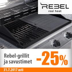 Rebel-grillit -25%