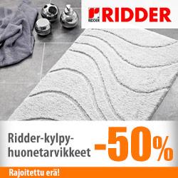 Ridder-kylpyhuonetarvikkeet -50%