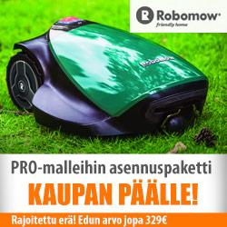 Robomow PRO -robottiruohonleikkureihin asennuspaketti kaupan päälle!