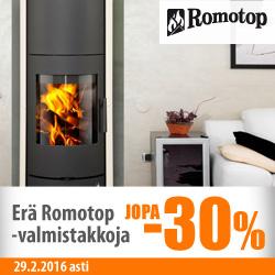 Erä Romotop-valmistakkoja jopa -30%