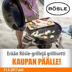 Erään Rösle-grillejä grillisetti kaupan päälle!