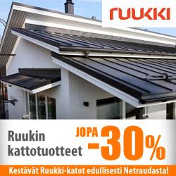 Ruukin kattotuotteet jopa -30%