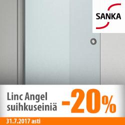 Sanka Linc Angel -suihkuseiniä -20%