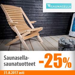 Saunasella-saunatuotteet -25%