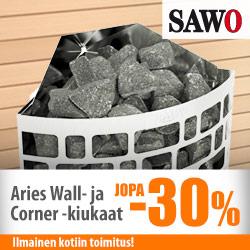 Sawo-sähkökiukaita jopa -30%