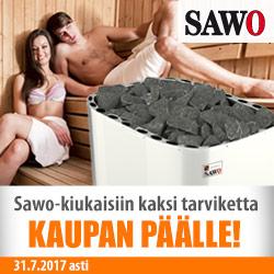 SAWO-kiukaisiin kaksi tarviketta kaupan päälle!